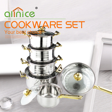12pcs stainless steel cookware set/stainless steel pots and pans/stainless steel stock pot sets
