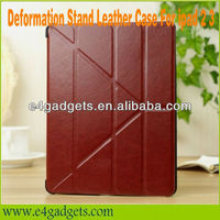 4 Folio Folding Magnetic leather Cover Case Stand For Apple iPad 2 3 4 ,Deformation Stand Leather Case For ipad 2 3