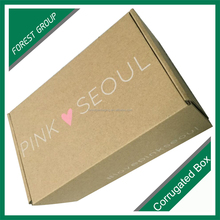 Full color custom printed corrugated cardboard recycled brown paper box
