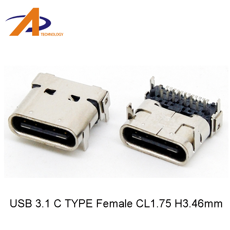 10gbps Top mount reversible USB Type-C 3.1 female receptacle plug&socket connector SMT type