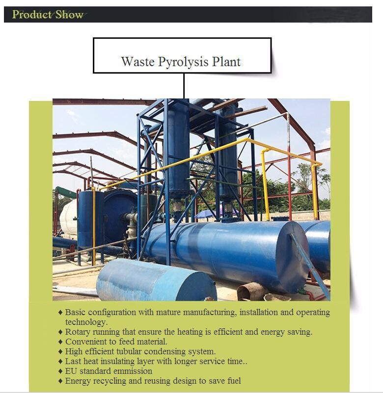 2017 newest generation top quality profitable project waste tyre recycling plant