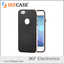 For iphone SE case , tpu and pc smartphone case with silicone back and baking varnish frame