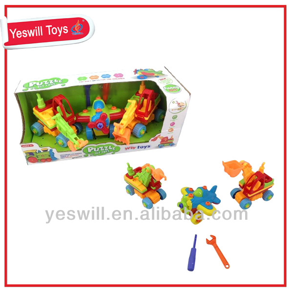 Educational assembly toys truck and assembly toy plane