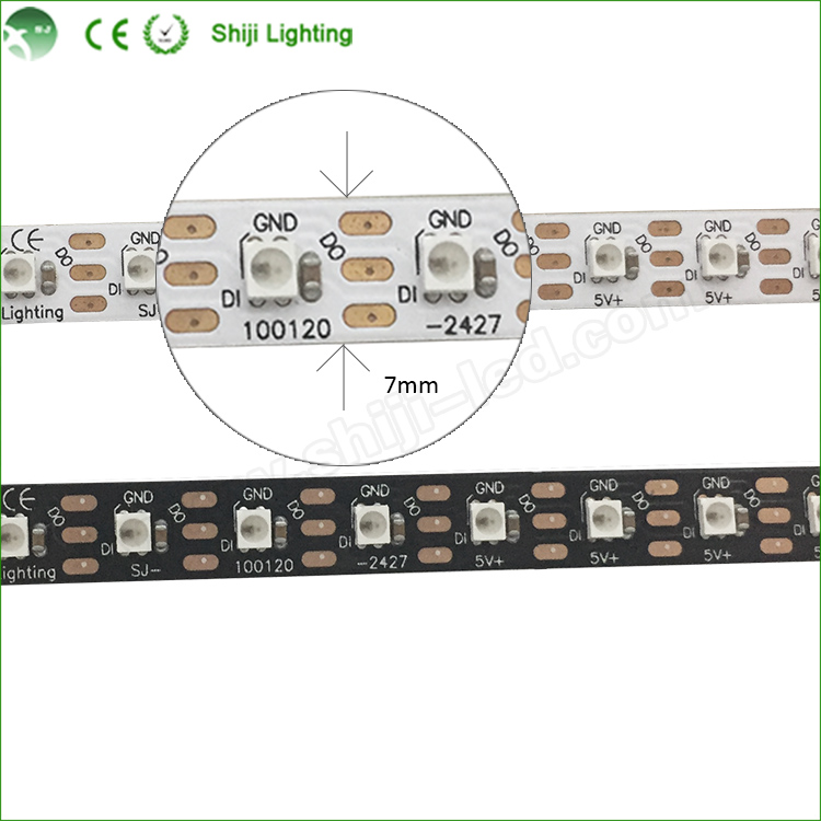 Wholesale SK6812 DC5V Digital 6400k 2427 ribbion pixel lights 5050 flexible led strip 120led <strong>m</strong>
