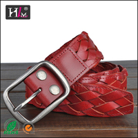 2015 New Style china manufacturer full grain cowhide belt zip code for sale