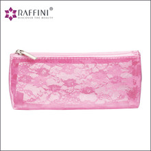 Best gift home and travel use pink transparent design fashionable PVC Basics Cosmetic Bag