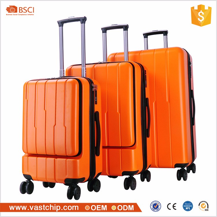 Unique design 3 pieces sets abs travelling luggage bags