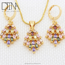 Dtina fashion brand women zircon jewelry set