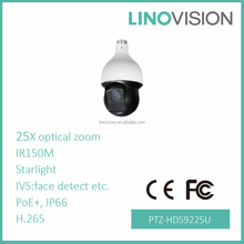 Linovision 2MP 25x Starlight IR H.265 Auto-tracking & IVS outdoor speed dome PTZ Network Camera CE FCC UL
