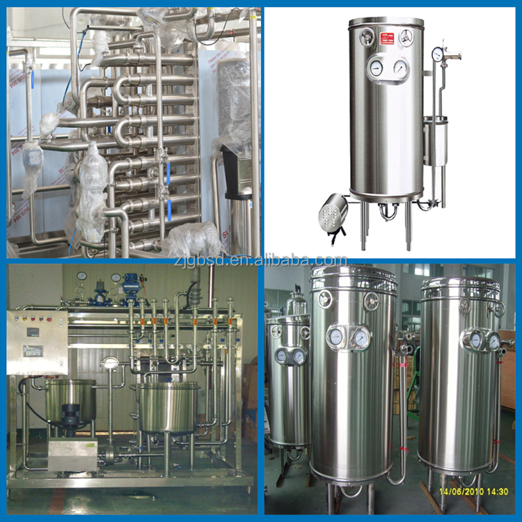 Good performance UHT instant sterilizer machine for juice and milk beverage