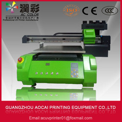 A2 desktop uv led flatbed printer multifunctional for printing pen, glass, metal, pvc card, t-shirt, phone cases