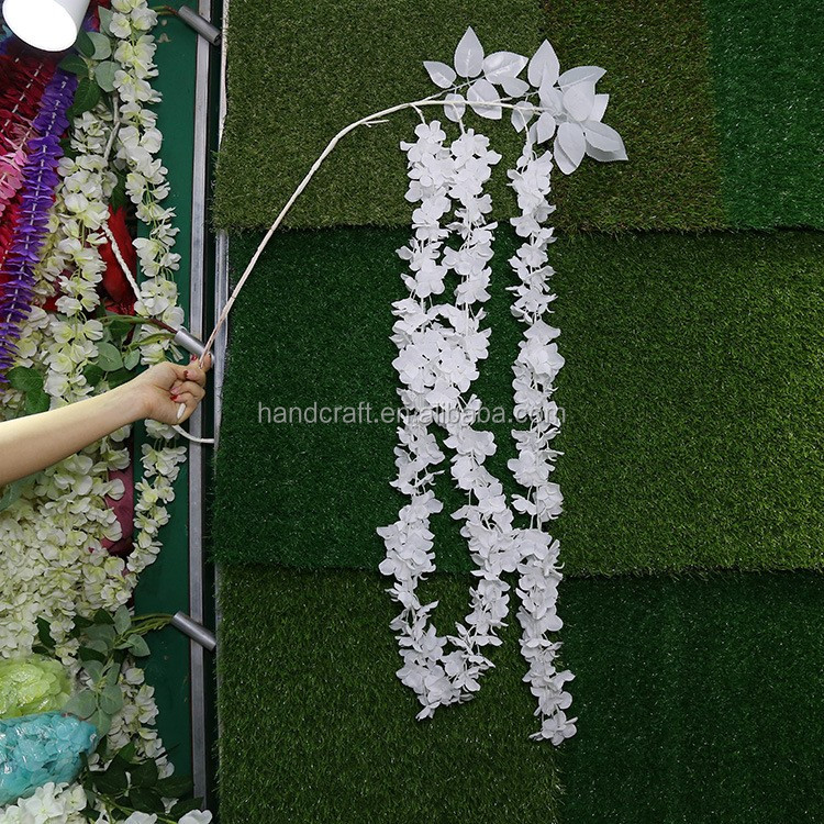 Pure white wisteria,artificial flowers wisteria wedding decoration wisteria silk flower wisteria