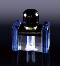 Luxurious brand custom crystal cube perfume bottle