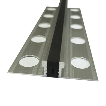 Rubber Infill Aluminum Tile Expansion Joints for Stone