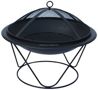 51cm Diameter Outdoor Quasar Steel Firepit - Black