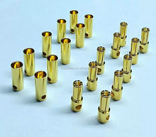 3.5mm Gold plated Connector /Banana/Bullet Connectors with Heat Shrink Tubing