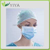 Disposable 3 ply surgical non woven face mask latex free