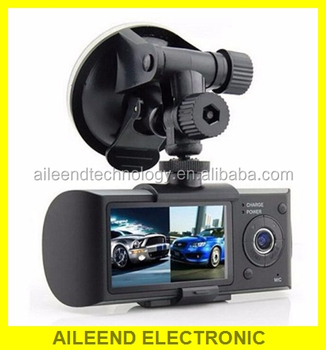 X3000 R300 GPS dual camera car driving video recorder