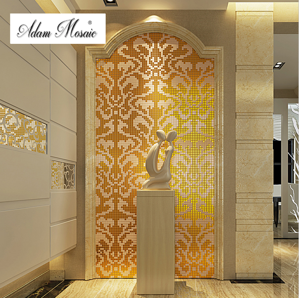 Arts And Craft Tiles Style Mosaic Art Deco Gold Glass Tile Super - Art deco mosaic tile patterns