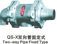 2 way fixed universal ball joint for pipes