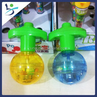 candy toy LED flash transparent gyro candy and sweets toy for kids child spinning top peg top