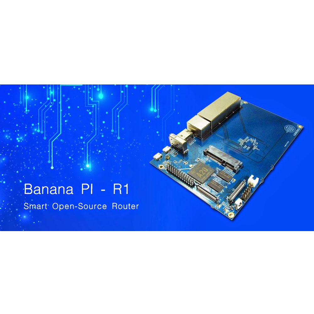 1 GB DDR3 memeory WiFi router BPI-R1 have 300Mbps Banana PI R1 Wireless Router board similar to mikrotik router board