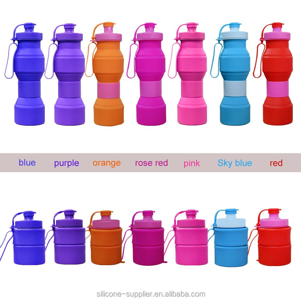 800ml Collapsible Folding Drink Water Bottle Kettle Cup Silicone Travel Sports water bottle