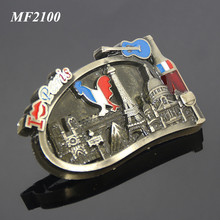 I LOVE PAIRS France Tourist Attractions Souvenir Alloy Plated Bronze Metal Custom Fridge Magnet