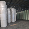 Needle punctured nonwoven polyester geotextile for bitumen membrane