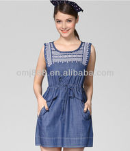 2013 ladies hotest summer denim dress
