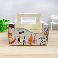 High quality customized disposable cheap paper wedding cake box for wedding