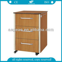 2014 AG-BC016 CE approved abs material bedside locker metal healthcare supplies