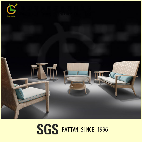 Plastic Popular Style Outdoor Restaurant Sofa Set Rattan lowes Manufacturer wicke furniture LG59-S