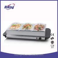 2 cool-touch stainless steel electric buffet food warmer