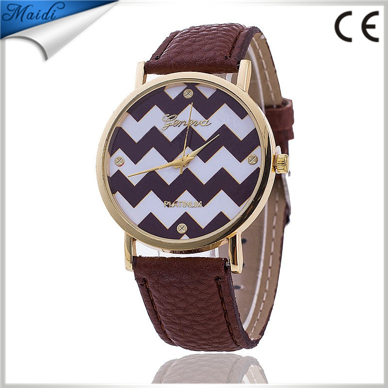 Women Watches Striped Anchor Analog PU Leather 2016 Quartz Ladies Watch Femal Wrist Watch Wholesale Promotion 2016 GW066