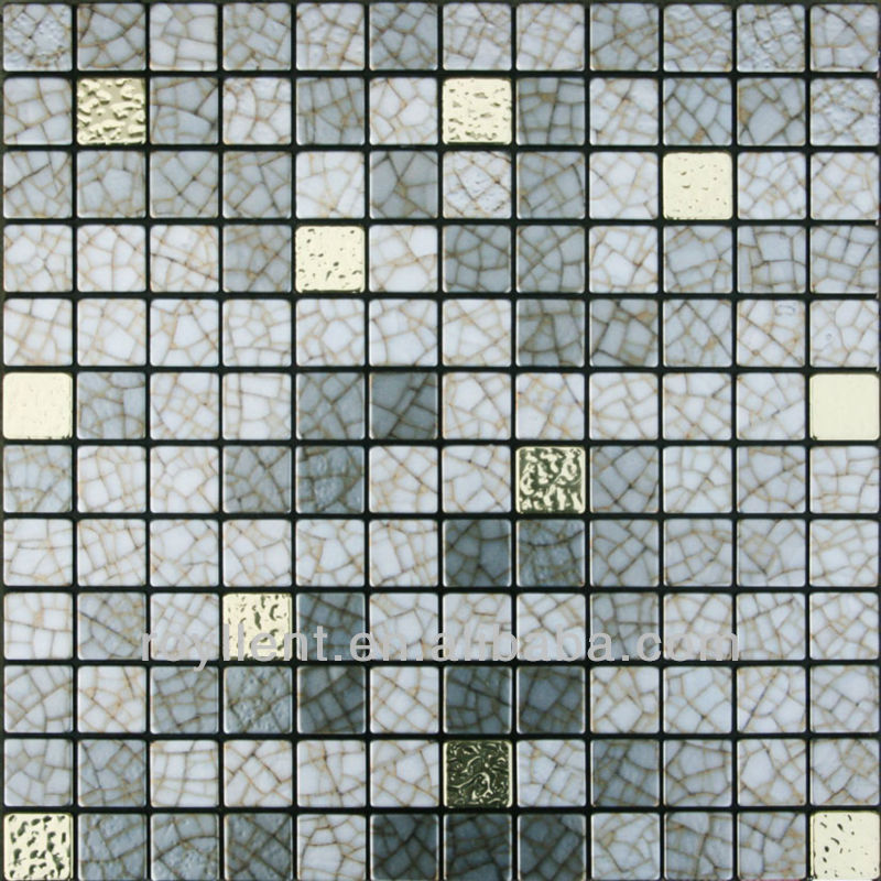 glass mixed resin mosaic tile for interior wall