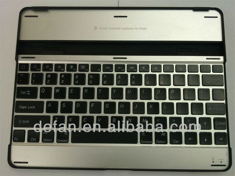 Aluminum Bluetooth Mini Wireless Keyboard Case Apple iPad 2 iPad3(THE NEW IPAD) 3rd