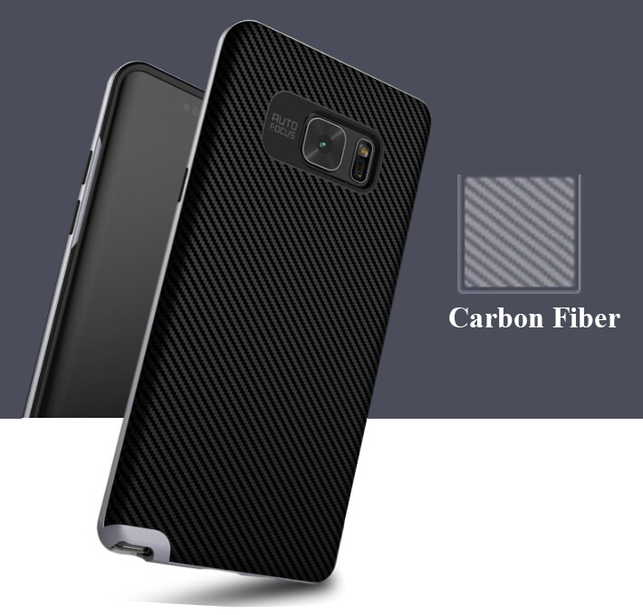 Carbon Fiber Mobile Phone Case Back Cover For Samsung Galaxy Note 7