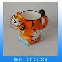 Lovely tiger shaped ceramic coffee mug,ceramic tea mug,ceramic milk mug