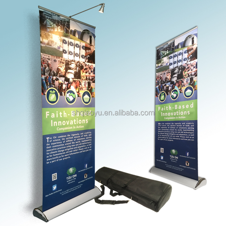 120 x 200 Outdoor Advertising Display Roll Up Banner Stand Custom Design Print