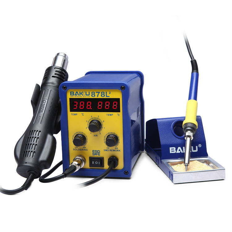 Baku Exceptional Quality Original Design Hot Air Gun Solar Cell Rework Station BK 878L2