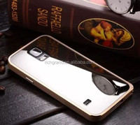 Luxury alumium metal bumper with mirror case cover for Samsung galaxy S5 G900