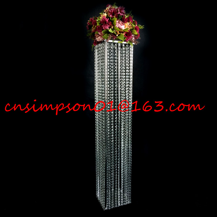 Tall crystal acrylic wedding pillar columns for aisle decorations