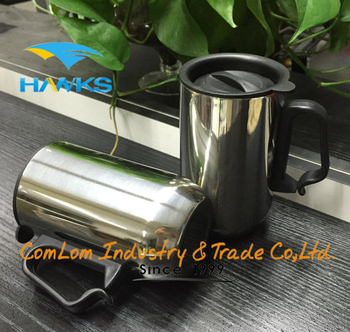 400ml promotional stainless steel coffee mug with handle