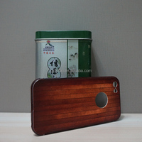 Wood phone case for iphone5S wine red fashion color