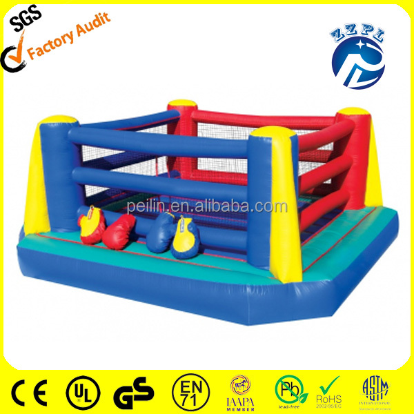 ZZPL china Cheap boxing ring game,inflatable wresting ring bounce for kid SPR-14