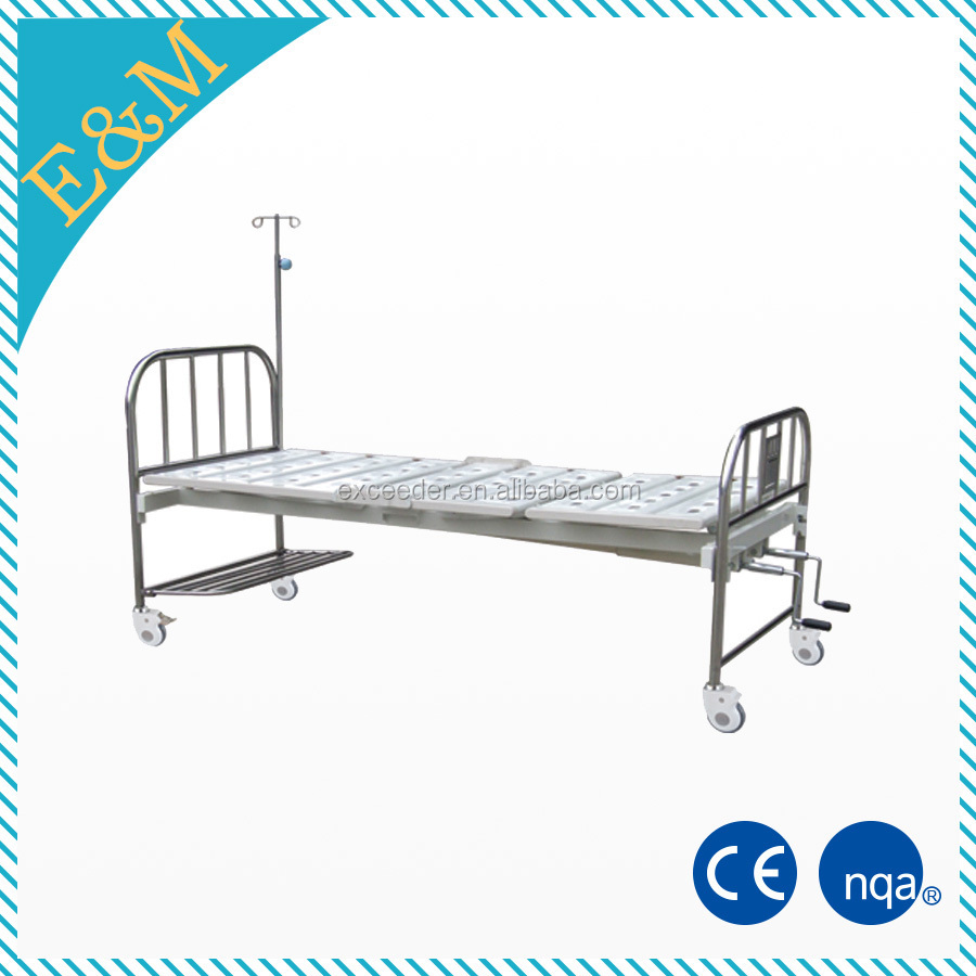Luxury intensive care unit electric patient bed with guardrails