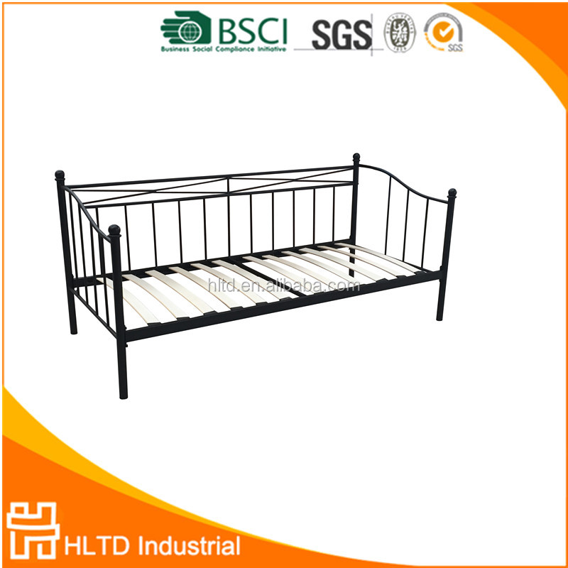 Metal furniture day bed sofa bed frame,metal cheap day bed for sale