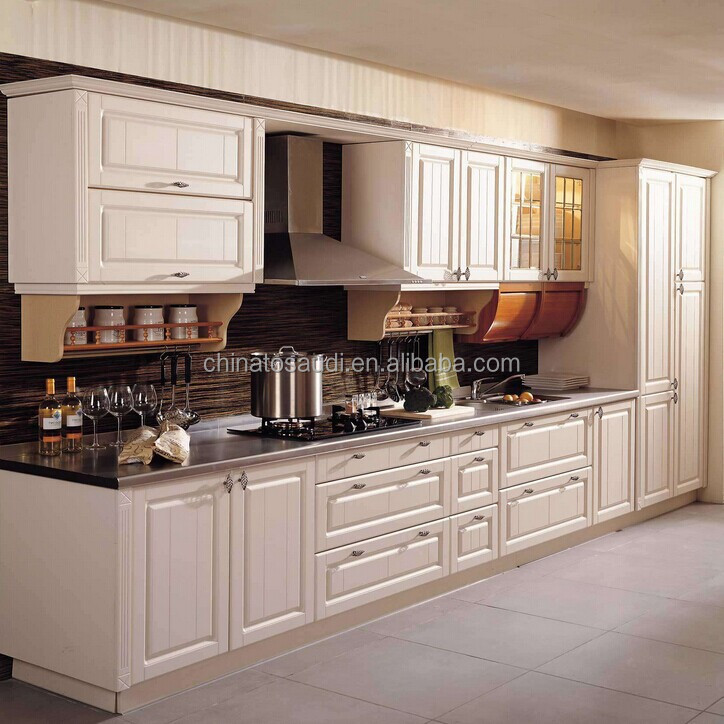 Solid cherry maple beech wood kitchen cabinets design for Cherry wood kitchen cabinets price