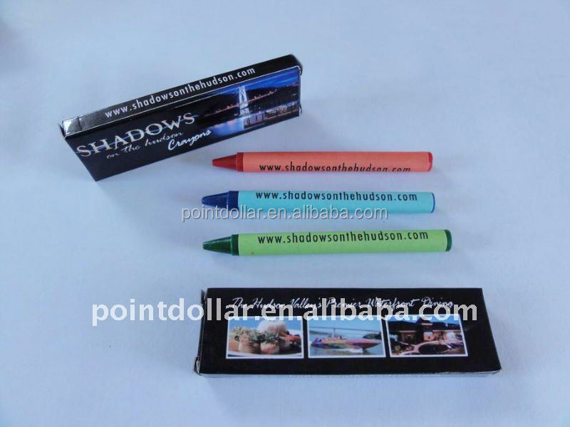 3 colour crayons wax, suitable for children